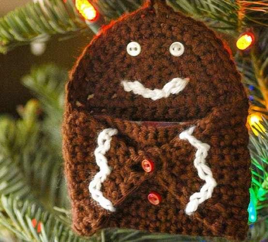 Gingerbread-Gift-Card-Holder crochet last-minute gift