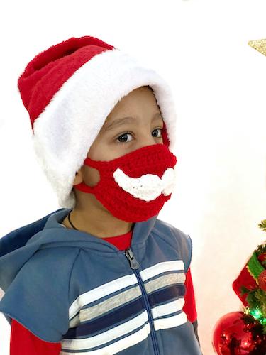 Santa Face Mask aabharcreations