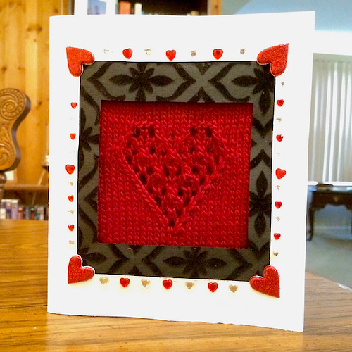 A Card For Valentines Day valentine free knitting patterns