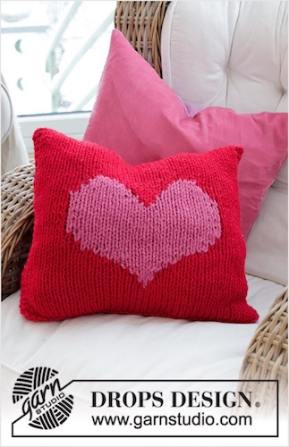 Lay My Love Cushion Cover by DROPS Design