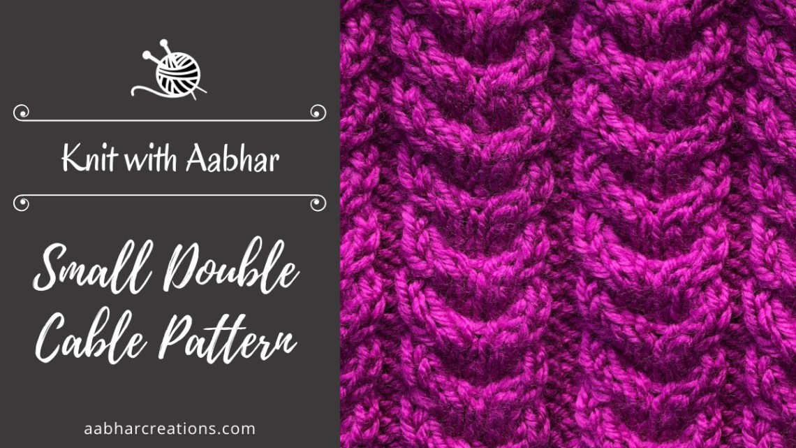 Small Double Cable Pattern Featured