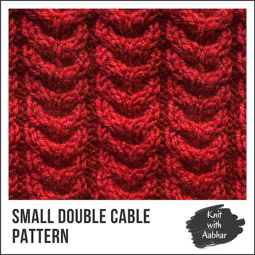 Small Double Cable Pattern
