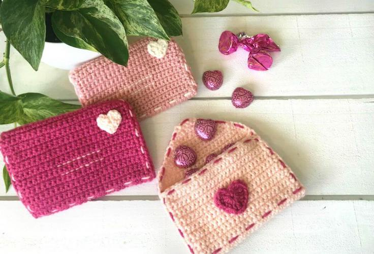 Crochet Valentine Envelopes