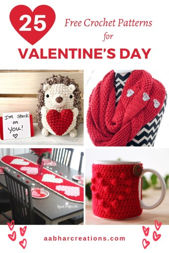 valentine crochet free patterns roundup aabharcreations