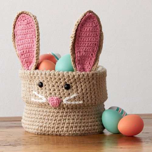 #4 Lily Sugar'N Cream Hoppy Easter Crochet Bunny Basket