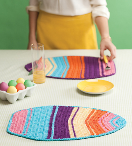 #9 Easter Egg Placemats Free Crochet Pattern