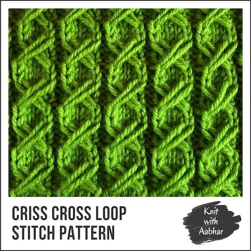 Criss Cross Loop Stitch knit with aabhar