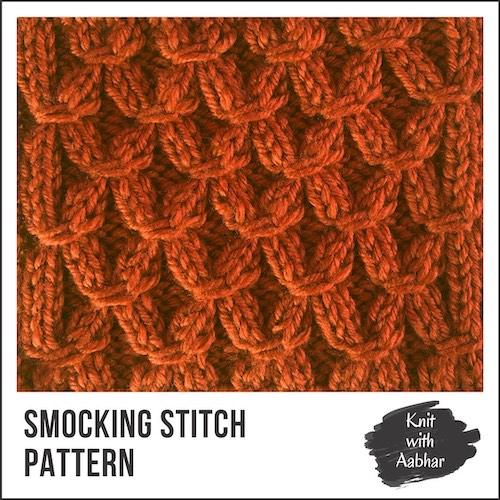 Smocking Stitch Pattern knit with aabhar