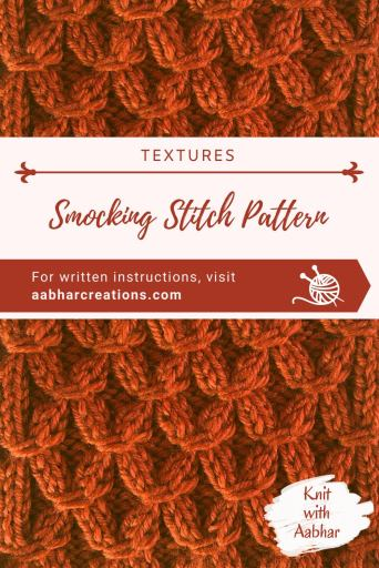 Smocking Stitch Pin aabharcreations