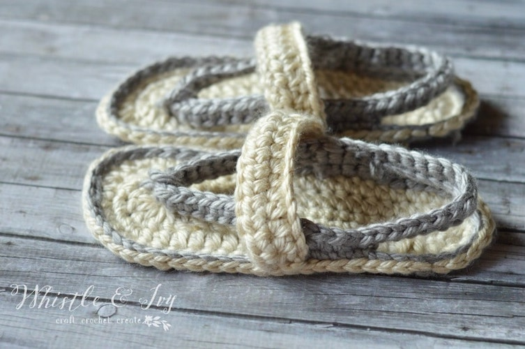 Women's Strap Flip-Flops - Free Crochet Pattern mother's day free patterns wearables