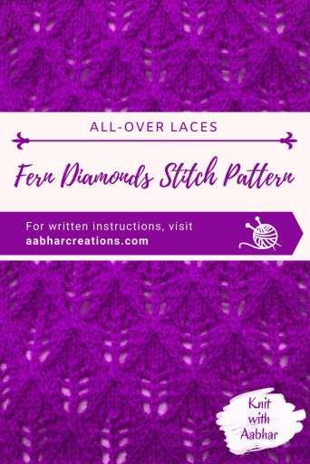 Fern Diamonds Stitch Pin aabharcreations