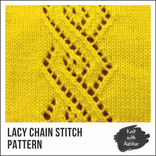 Lacy Chain Stitch Pattern aabharcreations