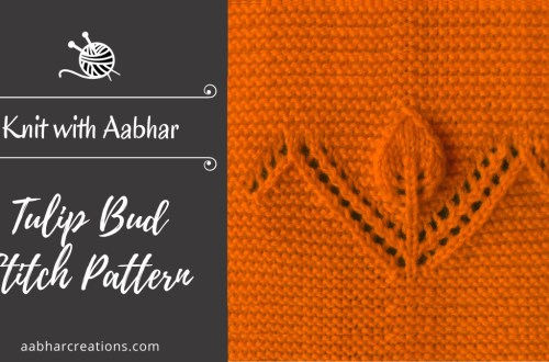 Tulip Bud Stitch Pattern featured aabharcreations