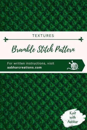 Bramble Stitch Pattern Pin Image aabharcreations