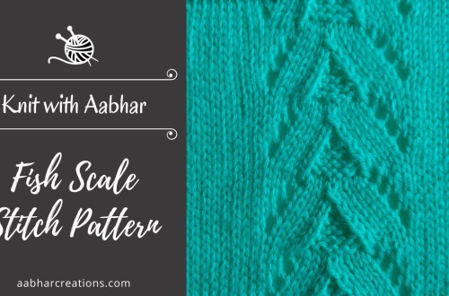 Fish Scale Stitch Pattern featured image aabharcreations