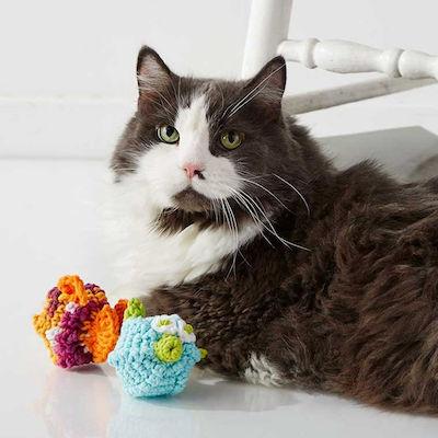 Lily Sugar'n Cream Puffy & Stuffy Cat Toys, Puffy