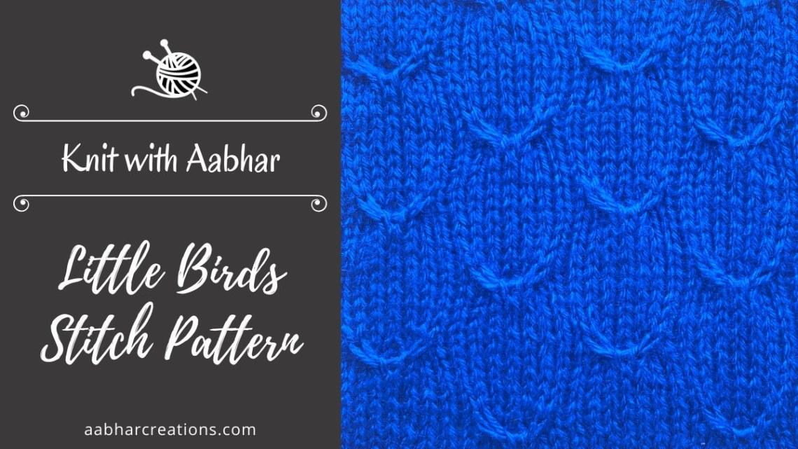 Little Birds Stitch Pattern Featured aabharcreations