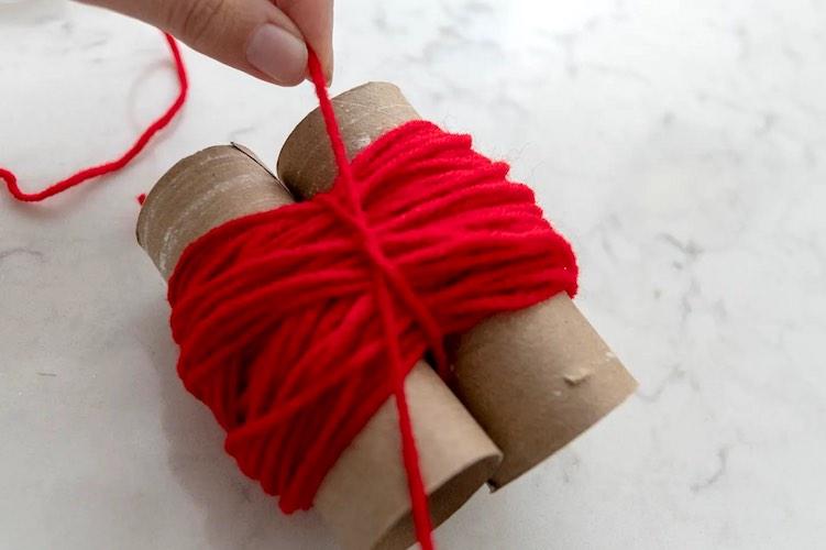 how to make pom pom toilet paper roll