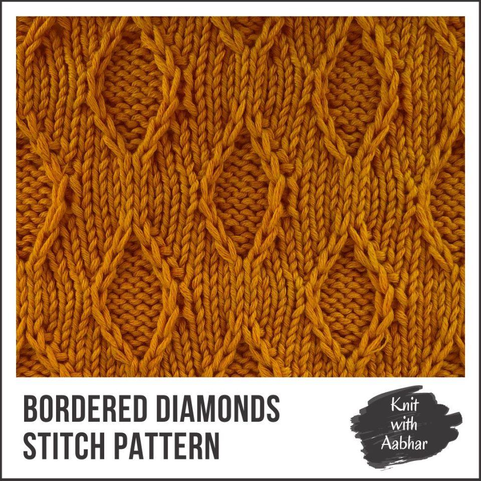Bordered Diamonds Stitch Portfolio knit with Aabhar