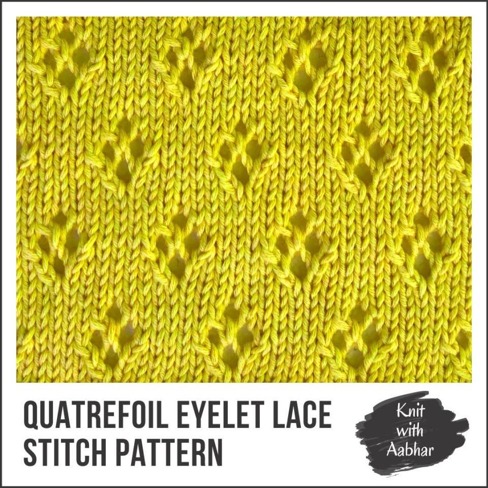 Quatrefoil Eyelet Lace stitch aabharcreations portfolio
