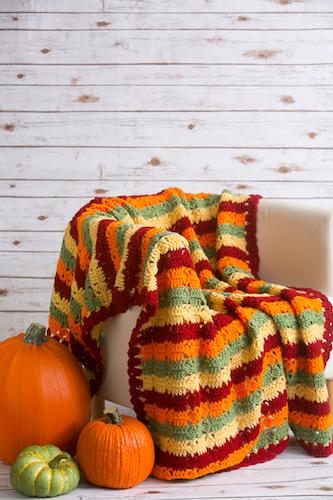 Pattern: Autumn Fields Throw from I Like Crochet Network