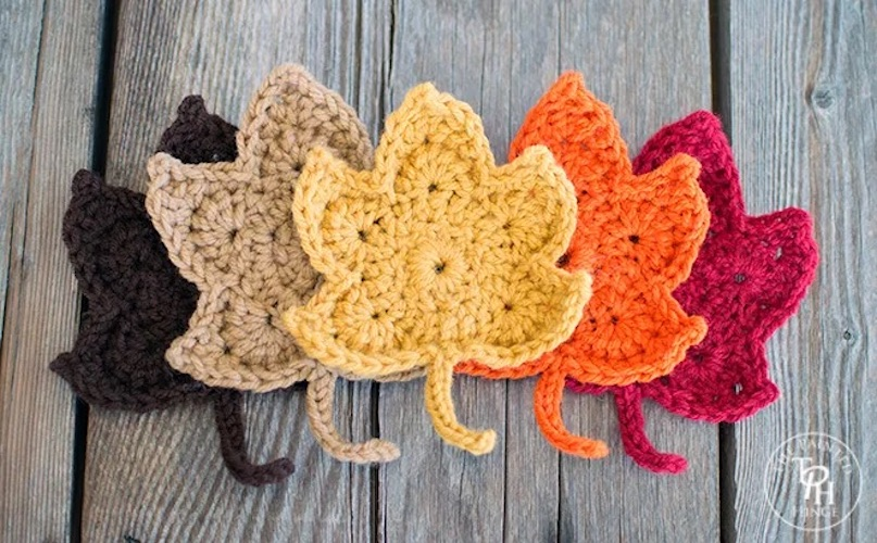 Pattern: Fall Maple Leaves Free Crochet Pattern from The Painted Hinge