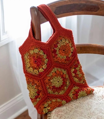Pattern: Happy Hexagon Crochet Tote Bag Pattern from Crochet 365 Knit Too