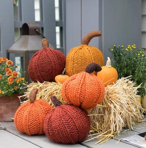 Pattern: Large Pumpkin Knitting Pattern from Gina Michele
