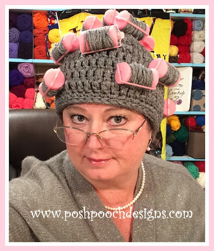 Pattern: Oma's Curler Hat Crochet Pattern from Posh Pooch Designs