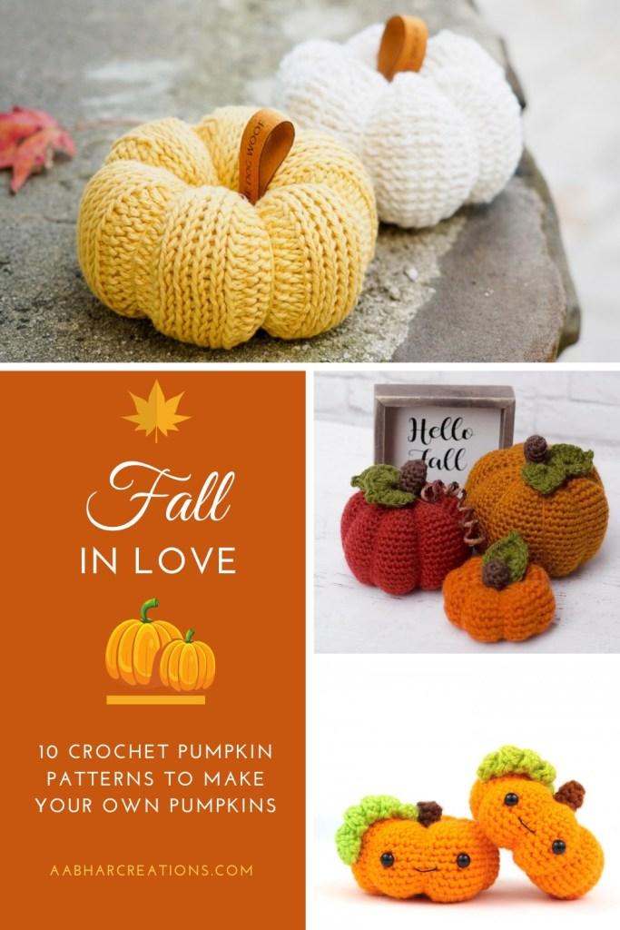 knit and crochet pumpkin patterns aabharcreations