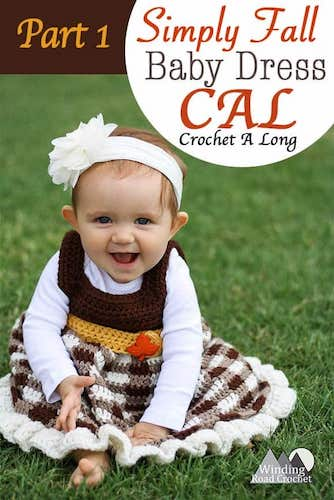 Pattern: Simply Fall Baby Dress from Winding Road Crochet fall crochet patterns