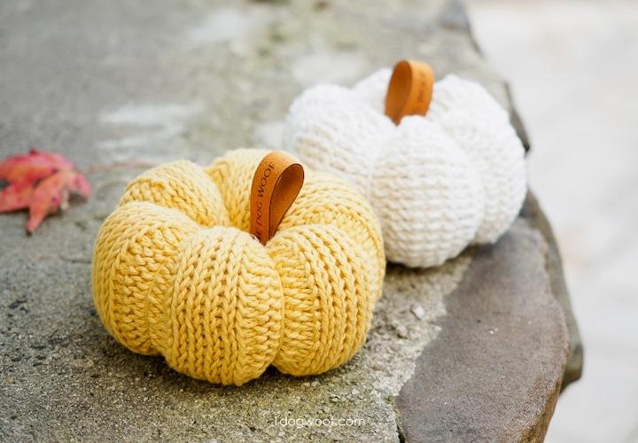 Pattern: Tunisian Crochet Pumpkin from One Dog Woof