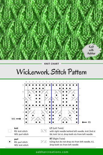 Wickerwork Stitch Chart aabharcreations