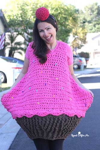Pattern: Crochet Cupcake Halloween Costume from Repeat Crafter Me crochet halloween costumes
