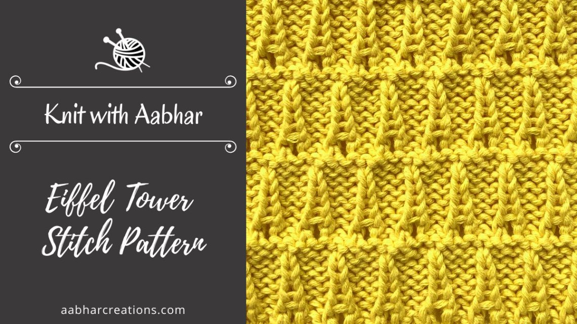 Eiffel Tower Stitch Pattern featured aabharcreations