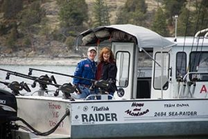 Mike and Cindy Howe on Flathead Lake