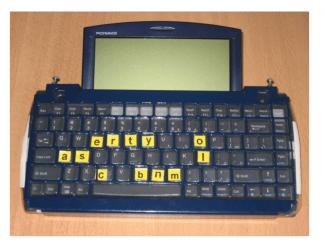 adapted keyboard