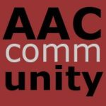AAC Community Logo Square with AAC and Unity in bold