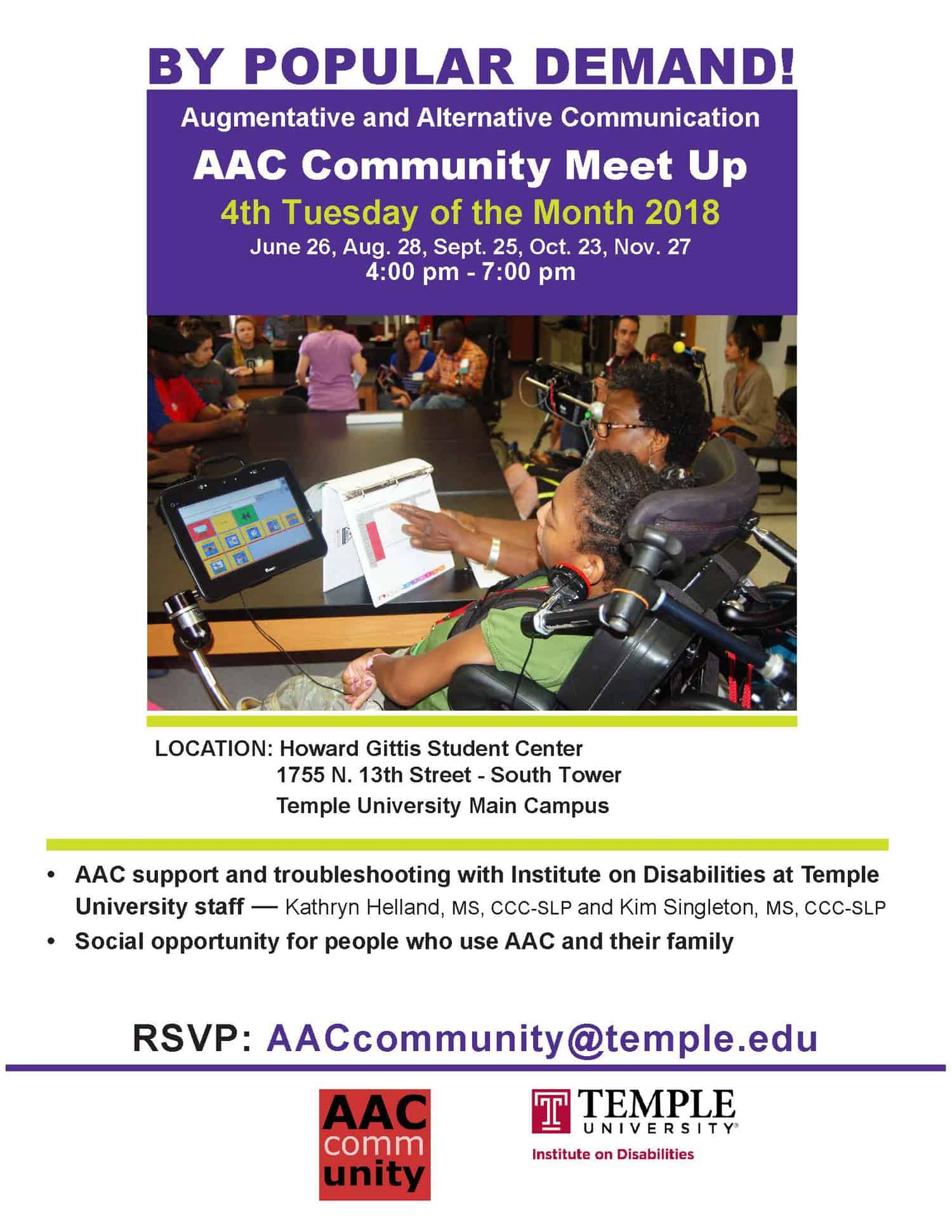 AAC Meet Up Flyer image.