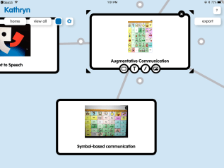 Image of Popplet mind mapping app