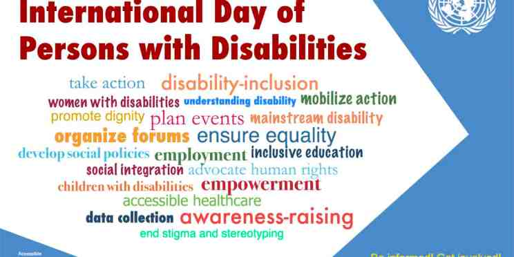 Poster for International Day for Persons with Disabilities