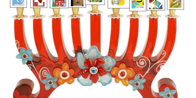 Image of Menorah with apps