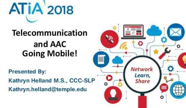 Title Slide from presentation on AAC and Telecommunication
