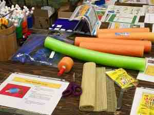 Image of low tech materials for making adapted art.