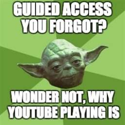 Image of Yoda with Guided Access meme