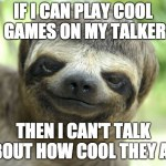 Image of a cool sloth