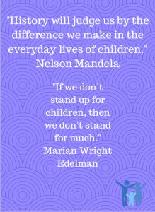 Image of quotes about the treatment of children.