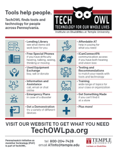 Image of the TechOWL One Page Flyer