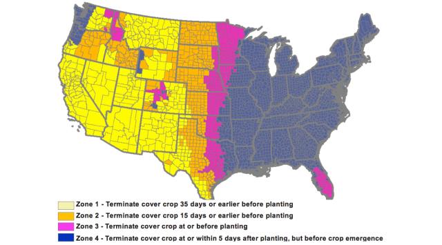Crop Termination Zones
