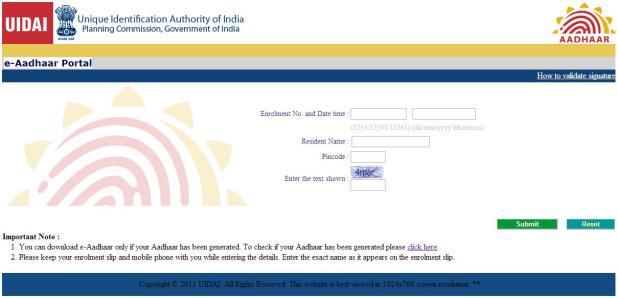 duplicate aadhar card